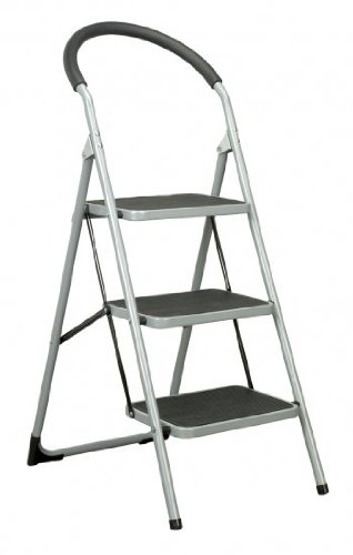 3 Tread Step Stool Ladder  sc 1 st  Amazon UK & 3 Tread Step Stool Ladder: Amazon.co.uk: Kitchen u0026 Home islam-shia.org