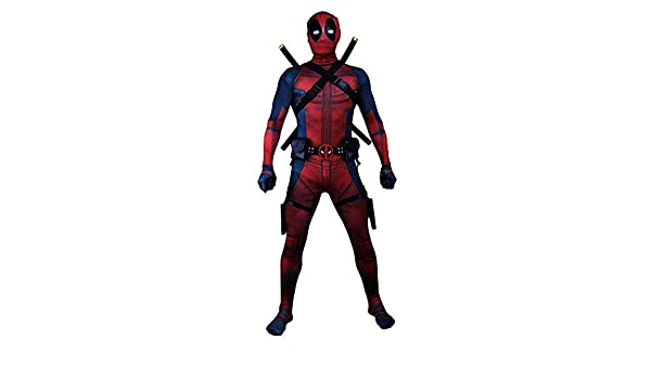 Super fantasia Cosplay Deadpool ropa masculina adulto ...