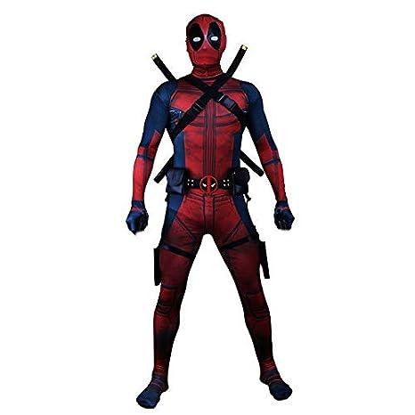Super fantasia Cosplay Deadpool ropa masculina adulto ...