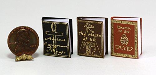 Dollhouse Miniature 1:12 Scale Set of Three Ancient Egyptian Magic Books