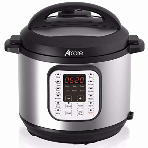 Electric Pressure Cooker, Acare 6 Qt 7-in-1 Programmable Mul