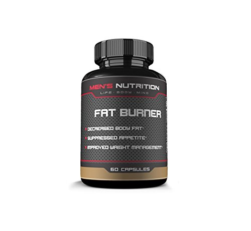 Men's Nutrition Fat Burner- Proven Results for Life, Body, and Mind- Decrease Body Fat- Suppress Appetite- Improve Weight Management – 60 Capsules