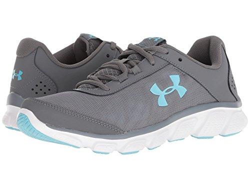 スクレーパー懐疑論エミュレートする[UNDER ARMOUR(アンダーアーマー)] レディースランニングシューズ?スニーカー?靴 UA Micro G Assert 7 Graphite/Steel/Venetian Blue 7 (24cm) B - Medium
