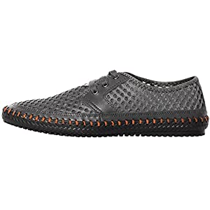 UJoowalk Men's Casual Breathable Flexible Outdoor Lace up Sneakers Quick Drying Mesh Aqua Water Shoes (10 D(M) US, Gray)