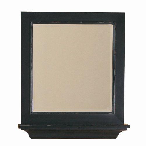 (DECOLAV 9865-DES Distressed Wood Frame Mirror, Espresso)