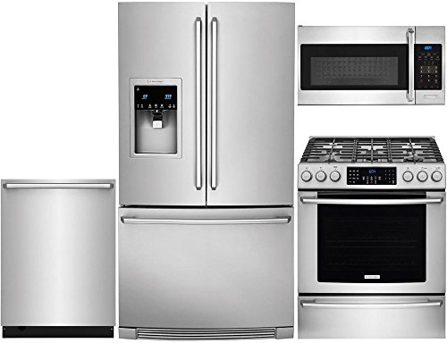 Electrolux Freestanding Ice Maker - Electrolux 4-Piece Stainless Steel Kitchen Package with EI23BC37SS 36