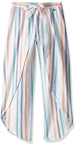 - Roxy Big Little Mermaid Girl Jessa Pant, Bright White Disney Stripe, 14
