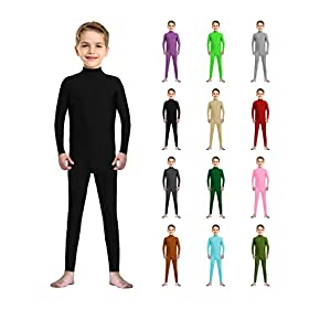 - 41KBNGZ1ugL - Kids Spandex Zentai Child Unitards Dancewear