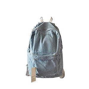 Unisex Casual Denim Travel Backpack School Bag  Rucksack