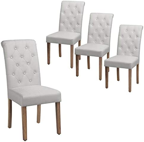 Yaheetech Dining Chairs Dining Room Chair Living Room Side Chairs Tufted Parsons Chair