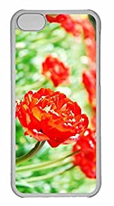 iPhone 5C Case, Personalized Custom Tulips 5 for iPhone 5C PC Clear Case