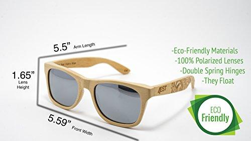 a133a0815185 Bamboo Wood Sunglasses - Polarized handmade wooden shades in a wayfarer  that Floats!