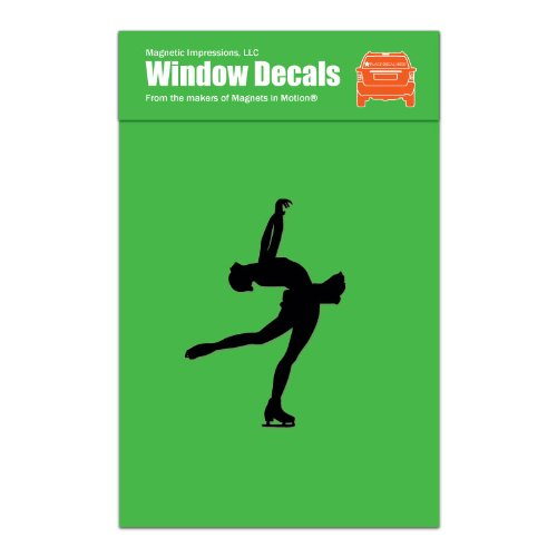 Figure Skater Layback Car Window Decal Black