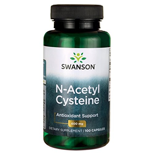 Swanson NAC N-Acetyl Cysteine Antioxidant, Anti-Aging, Liver Support & Amino Acids Supplement 600 mg 100 Capsules