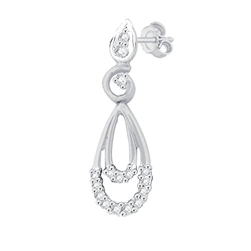 Giantti 14 carats Diamant pour femme Boucles d'oreille à tige (0.036 CT, VS/Si-clarity, Gh-colour)