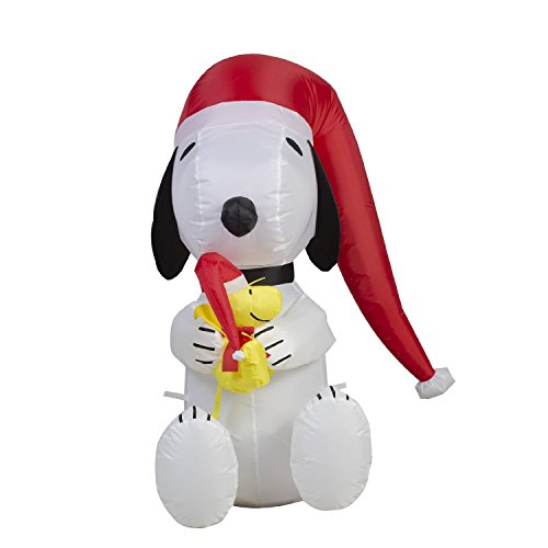 Airblown Inflatable Peanuts 3' LED Lighted Snoopy and Woodstock by Gemmy