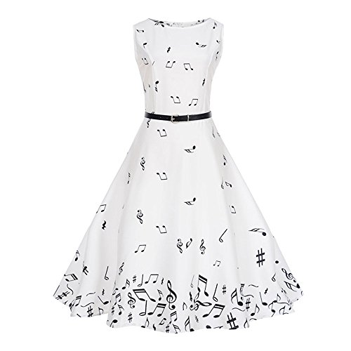 Rockabilly manches Robe Grande Soire Imprim Rtro Swing Robe Polyester Mlange Taille Sexy Sans de Cocktaile coton de Style Vintage Floral 0cwrw6ERq