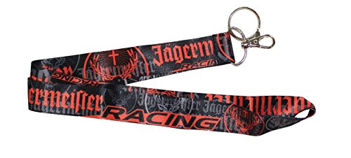 Jagermeister Racing Lanyard Keychain Black