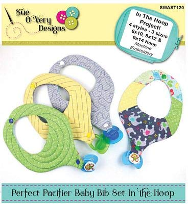 Perfect Pacifier Baby Bib Set ITH