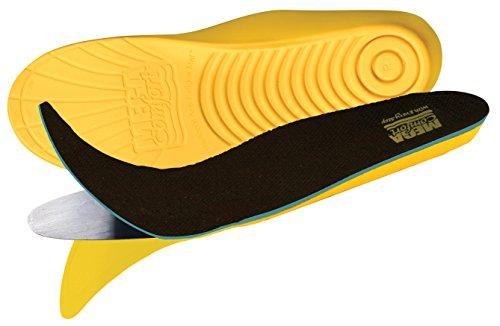 Puncture Resistant Insoles - MEGAComfort PAM Puncture Resistant Insoles; Original Dual Layer 100% Memory Foam and Flexible Steel Plate, Men's 10-11, Women's 12-13
