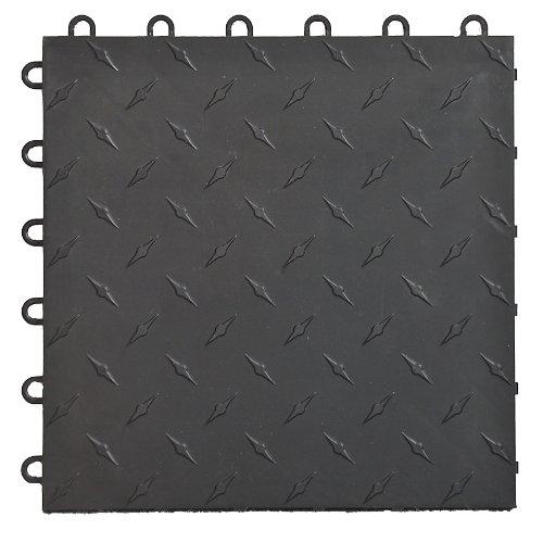 Speedway Garage Tile M789453B Garage Floor Male Ramp Edges without Loops, Black hot sale