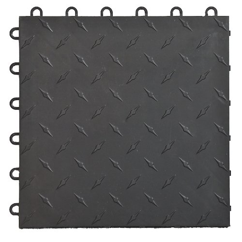 Speedway Garage Tile 789453B-50 Diamond Garage Floor 6 LOCK Diamond Tile 50 Pack, Black by Speedway Garage Tile Mfg.