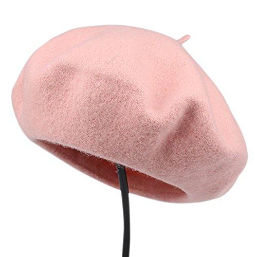 Womens winter wool French Beret Tam Beanie Hat Cap Wool Beanie