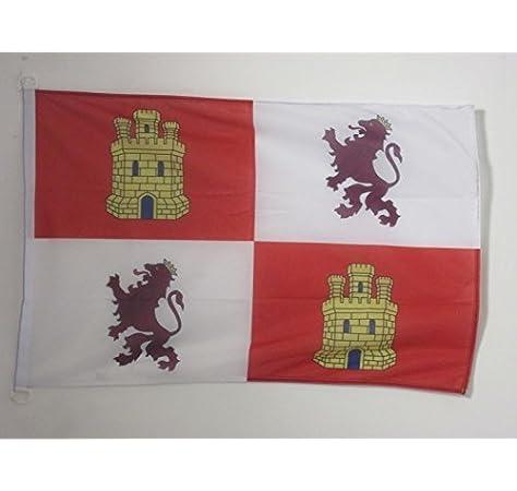 AZ FLAG Bandera de Castilla Y LEÓN 150x90cm Uso Exterior - Bandera CASTELLANOLEONESA 90 x 150 cm Anillos: Amazon.es: Hogar