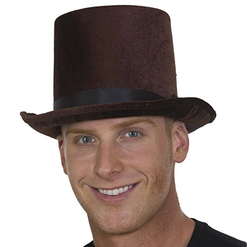 Mad Hat Hatter Top (Deluxe Velvet Tall Top Hat Victorian Dickens Roaring 20s Formal Costume)