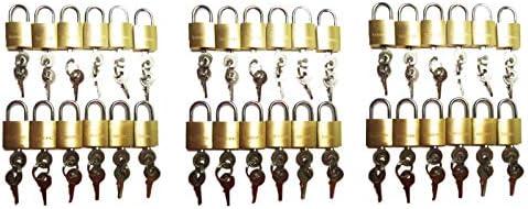 LOT OF 36 small brass padlock Mini Tiny Lock Box Jewelry drawer KEY ALIKE 20MM