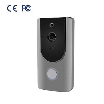 ZHEDAN Video Doorbell,Visión Nocturna,Inalámbrico ...