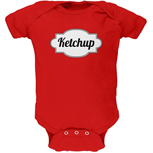 Halloween Ketchup Costume Red Soft Baby One Piece - 18-24 months by Old Glory