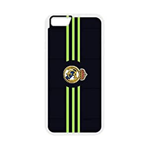 Real-Madrid-Black iPhone 6 Plus 5.5 Inch Cell Phone Case White Pdwvv