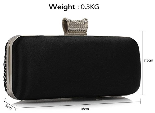ANNA GRACE - Cartera de mano de Material Sintético para mujer Design 1 - Black/Silver