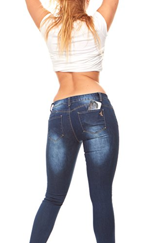 Low Waist Butt Lifter Skinny Slim Fit Stretchy Jeans For Women Junior Size 13 Dark Blue Wash