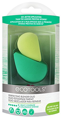 Fiber Blender Tools - Ecotools Cruelty Free Eco Foam Sponge Duo Made with Sustainable and Recycled Materials; Eco Foam Technology in Two Sizes and Densities
