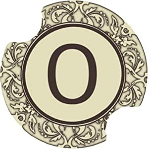 Set of Two Monogram O Carster Car Coasters