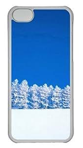 Customized Case snow PC Transparent for Apple iPhone 5C