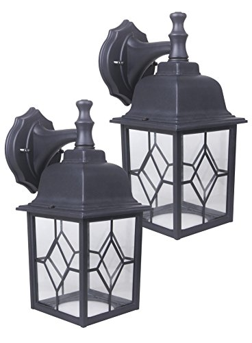 CORAMDEO Outdoor LED Wall Lantern, Wall Sconce 11W Replace 100W Traditional Lighting Fixtures, 1000 Lumen, Water-Proof, Aluminum Housing Plus Glass, ETL and Energy Star Certified, 2-Pack Review