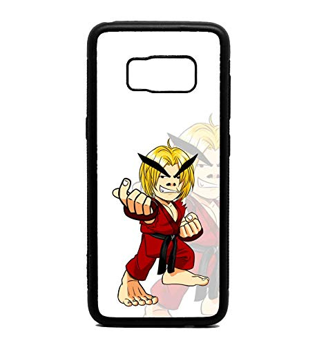 - Phone Case Funny Fun Comedy Chibi Big Head Fighter Fight American Japanese Street Masters Karate fire Flame for Galaxy S8 Plus