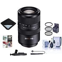Sony 70-300mm F4.5-5.6 G SSM II Telephoto Zoom Lens - Bundle With 62mm Filter Kit, Lens Wrap (19x19), LensPen Lens Cleaner, Capleash, Cleaning Kit, Software Package