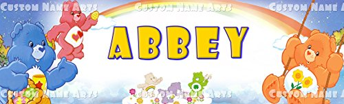 Personalized Care Bear Banner Birthday Poster Custom Name Painting Wall Art