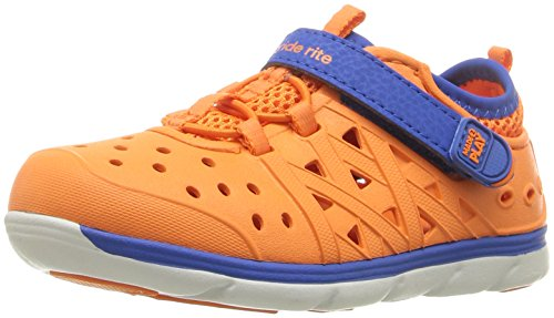 (Stride Rite Made 2 Play Phibian Sneaker Sandal Water Shoe (Toddler/Little Kid/Big Kid), Orange, 11 M US Little Kid)