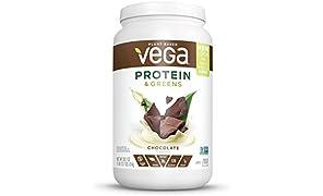 Vega Protein & Greens, Plant Protein Shake, Chocolate, 25 Servings, 1.79 lb tub