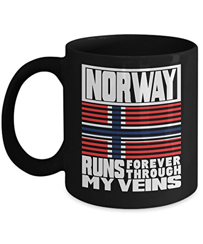 Shirt White Norway PUERTO RICO runs My Veins Retro Flag Coffee Mug 11oz Black (Cost Of A Cup Of Coffee In Norway)