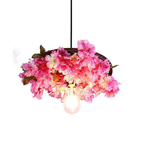 Blossom Pendant Lighting - Mamrar Cherry Blossom Chandelier,Iron Plant Pendant Lamp, Theme Restaurant Cafe Pub Hanging Light Deco Lamps(Without Bulb),48Cm