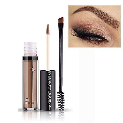 Maquillaje líquido para cejas con cepillo, pigmentos duraderos, resistente al agua y de calidad
