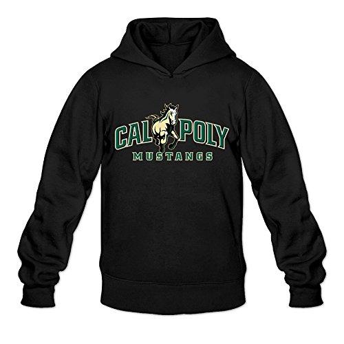 [AK79 Men's Hoodies Cal Poly Horse Logo Size M Black] (Makers Mark Costume)