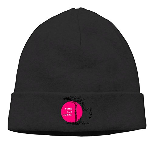 Darling Alphabet (RTQSA Stand Tall Darling Pink Flamingo Bird Beanie Hats Winter Designer Brim\r\n Wool)