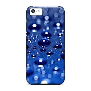 MMZ DIY PHONE CASEiphone 4/4s Case Cover Drops On Blue Background Case - Eco-friendly Packaging